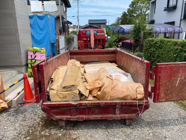 【産業廃棄物の回収処理】新築現場の廃棄物撤去の搬出を行った事例を紹介します。
