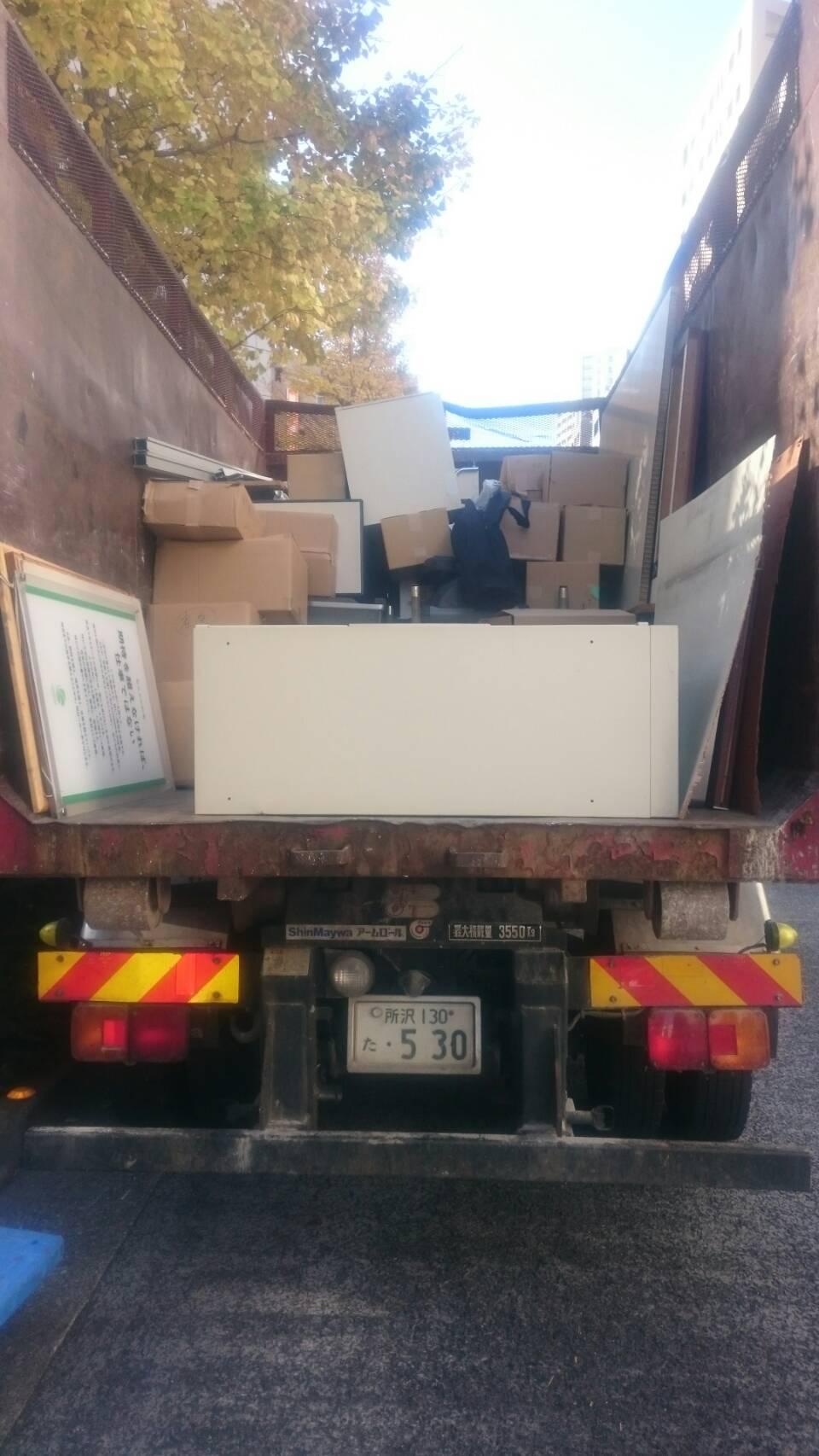 【産業廃棄物の処理】倉庫事務所粗大ごみの収集処理をした事例を紹介します。