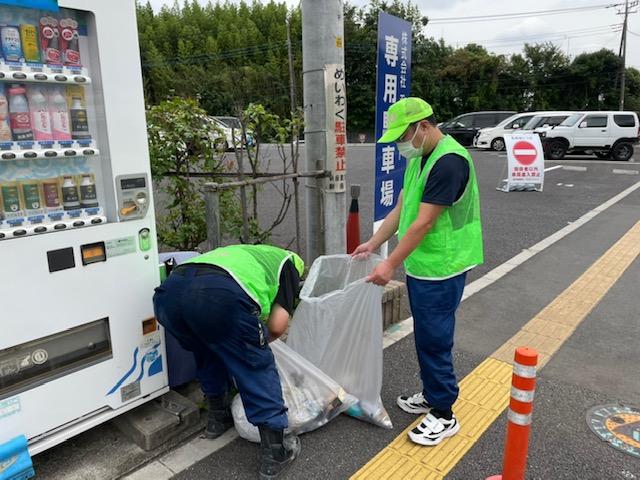 【地域美化運動】秋のロードサポート、道路清掃を行いました。